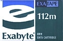 Exabyte 8mm 112M Data Tape 2.5GB (180093)