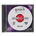 MAM-A CD-R 74 Minute 650MB Printable White (41142)