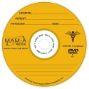 MAM-A DVD-R 4.7GB Medical Logo, Gold top in JC (83484)