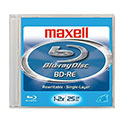 Maxell Blu-ray BD-RE 1-2X, 25GB, Branded (631002)