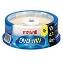 Maxell DVD-RW 4.7GB, 2X, Branded Top, 15/SP (635117)