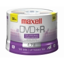 Maxell DVD+R 4.7GB, 16X, Branded Top, 50/Spindle (639013)