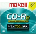 Maxell CD-R 80 Min. 48X, Slim JC Printable Gold (648731)