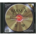 MAM-A CD-R 74 Minute 650MB Printable Gold (JK200PX1A)