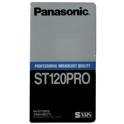 Panasonic 120 Min S-VHS Professional Videocassette (NV-ST120PQ) - Click Image to Close