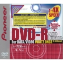 Pioneer DVD-R 4.7GB 4X Gen. Purpose in JC, White (DVS-RP47BF)