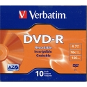 Verbatim DVD-R 4.7GB Branded,16X, Slim JC 10/PK (VER95099)