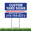 "Yard Sign 24"" X 18"" Color, 1 Sided with Stake"