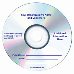 Blue Thermal Printing Directly on DVD-R Disc Surface