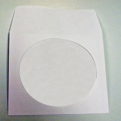CD Paper Env. w/ clear window (with Flap) (1CDROMPAPER)