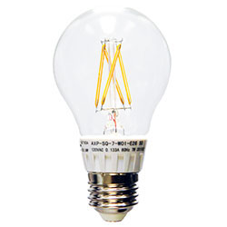 AXP 7W Filament LED A19, 810 lm, E26, 2700K, (AXP-SQ-7-W01-E26)