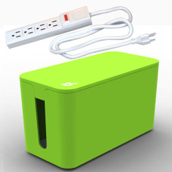 Bluelounge CableBox Mini with Powersurge - Green