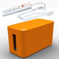 Bluelounge CableBox Mini with Powersurge - Orange