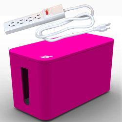 Bluelounge CableBox Mini with Powersurge - Pink
