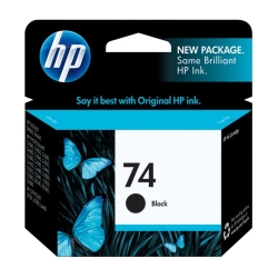 HP Black #74 IJ Print Cartridge, 200 Yield (CB335WN)