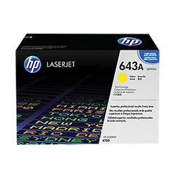 HP Color LJ 4700 Yellow Toner Cart. (Q5952A)