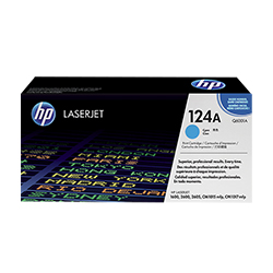 HP 124A Cyan ColorSphere Print Cartridge 2K (Q6001A)