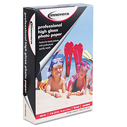 "Innovera 4"" X 6"" High Gloss Photo Paper, 100 SH/PK (IVR-99546)"