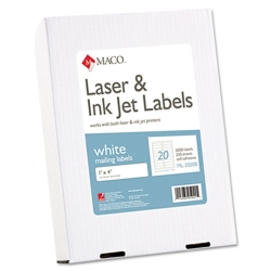 "Maco 1"" X 4"" Laser Label 2000/BX (ML-2000)"
