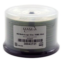 MAM-A CD-R 80 Min. with Medical Logo on Silver, 50/SP (43731)
