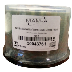MAM-A CD-R 80 Min. Medical White Thermal 50/SP (43761)