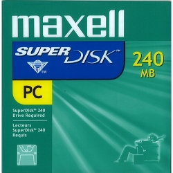 "Maxell 3.5"" SuperDisk 240MB IBM Formatted (570325)"
