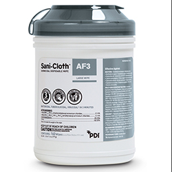 "PDI Sani-Cloth AF3 Disp. Wipe, 6"" X 6.75"", 160/TUB (P13872)"