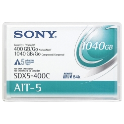 Sony 8mm AIT 5 Data Tape w/R-MIC 400GB (SDX5-400C)