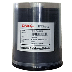 CMC DVD-R 4.7GB, 16X, 100/Spin TH PR White (T-DMR-TWY-SB16)