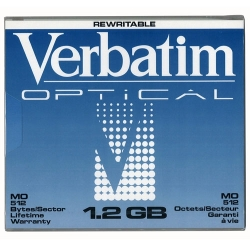 "Verbatim 5.25"" RW Optical 1.2GB 512B/S (89108)"