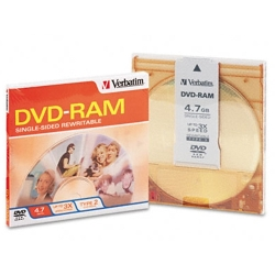 Verbatim DVD-RAM 4.7GB Single Sided, 3X, Type 4 (95002)
