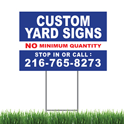 "Yard Sign 24"" X 18"" Color, 2 Sided with Stake"