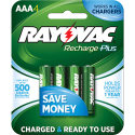 Rayovac Platinum Rechargeable AAA Battery 4/PK (PL724-4B)