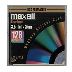 Maxell 128MB Optical Disk 512B/S IBM Fmt (621850)