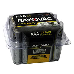 Rayovac Alkaline UltraPro AAA Reclosable 24 pack (ALAAA-24PPJ)